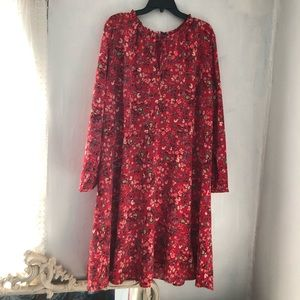 LOFT red floral dress NWT